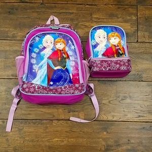 Elsa and Anna Backpack and Lunchbox